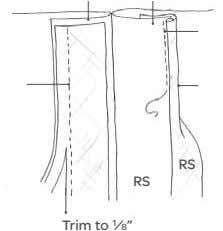 RS RS Trim to 1 ⁄8""