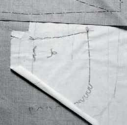 couture construction begins with marking. most pieces are marked with thread-tracing or tailor's tacks, which