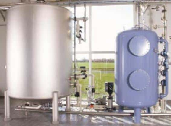 and technical equipment for oxidation and backwashing. Degassing of dissolved gases such as aggressive carbon
