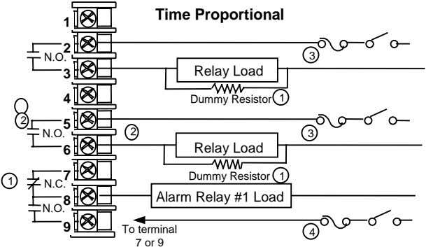 Time Proportional 1 2 N.O. 3 3 Relay Load 4 Dummy Resistor 1 2 5