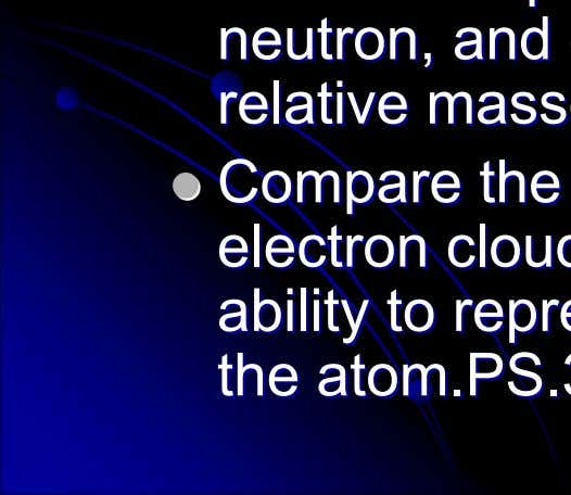to to represent represent accurately accurately the the structure structure of of the the atom.PS.3 atom.PS.3