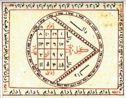 – The Occult in Islamic Material Culture Spring 2018 Magic Square from al- Buni's Shams al-