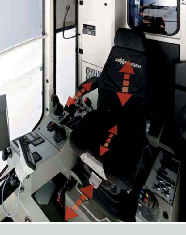usstattung Picture shows optional e uipment. Air-cushioned comfort seat Comforta le oystic