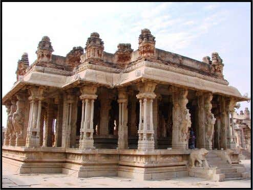 "ELABORATEMANDAPA OF VITTHALA TEMPLE MANDAPAS A ""Mandapa"" is a pillared outdoor hall or pavilion for public"