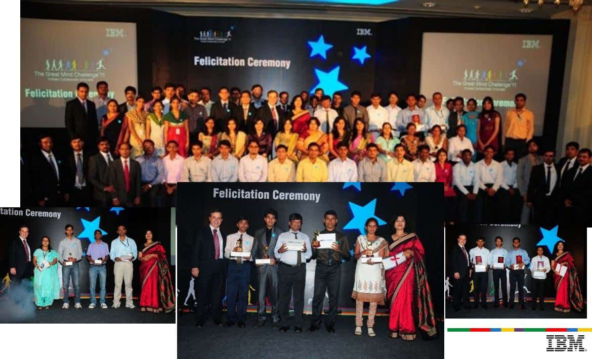 Glimpses of 2011 winners and felicitation