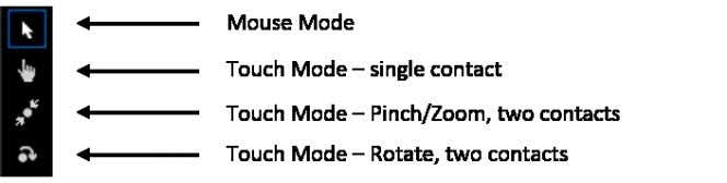what these mouse/touch options look like on the simulator. Using these controls you can emulate the