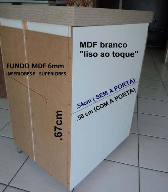 FUNDO MDF 6mm INFERIORES E SUPERIORES