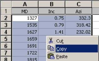 calculating may be necessary after pasting data into COPY DATA (without column labels) PASTE onto last