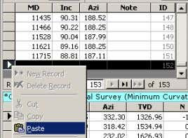 after pasting data into COPY DATA (without column labels) PASTE onto last row in table How