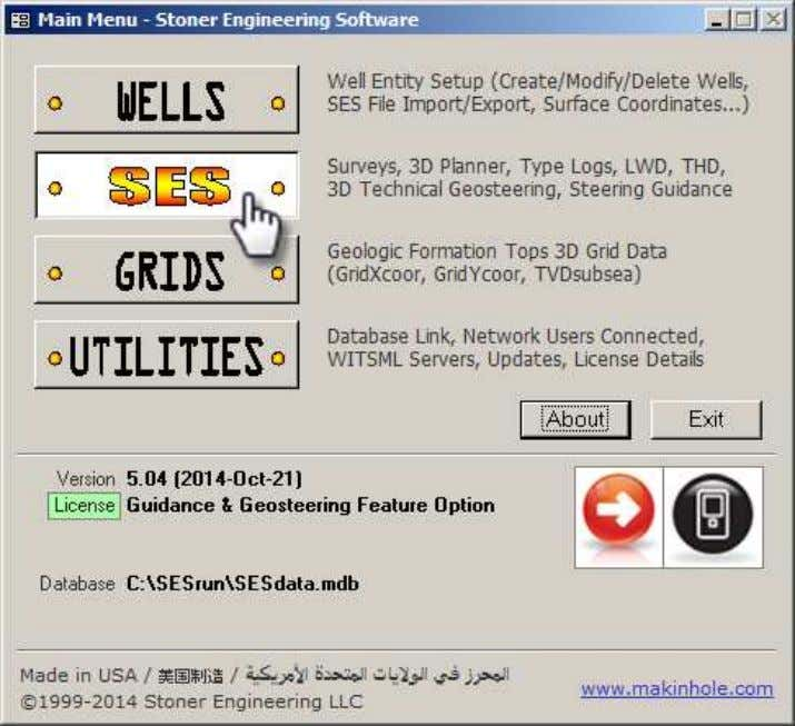 "5. SES Screen SES v5.11 5.1 General SES screen is the ""command center"" of SES and"