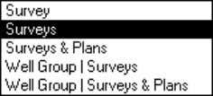 "display settings. ""Surveys"" (Single Well mode) Graph selected survey and other surveys from same Well."
