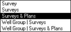 "same Well. ""Surveys & Plans"" (Single Well mode) same Well. Graph selected survey, other surveys, and"