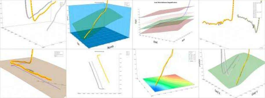 3D graphs of wellbore paths & grid surfaces   SES 3D Viewer: surveys, plans, single-well, multi-well,
