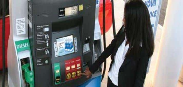 Prototype of petrol pump Ad display on screen is a another mode of earn money