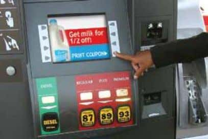 Prototype of petrol pump Ad display on screen is a another mode of earn money Car