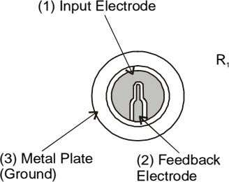 (1) Input Electrode R 1 (3) Metal Plate (Ground) (2) Feedback Electrode