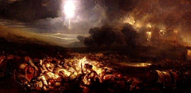 ve representado en su cuadro The field of Waterloo (1818). En este caso, William Turner nos