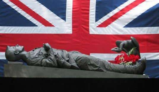 Fig. 4. Daniel Edwards Iraq War Memorial Featuring the Death of Prince Harry, The Martyr