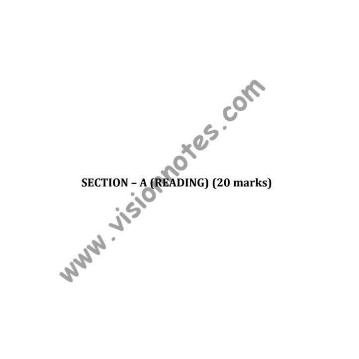 SECTION – A (READING) (20 marks)