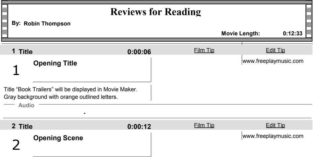 Reviews for Reading By: Robin Thompson Movie Length: 0:12:33 1 Film Tip Edit Tip Title