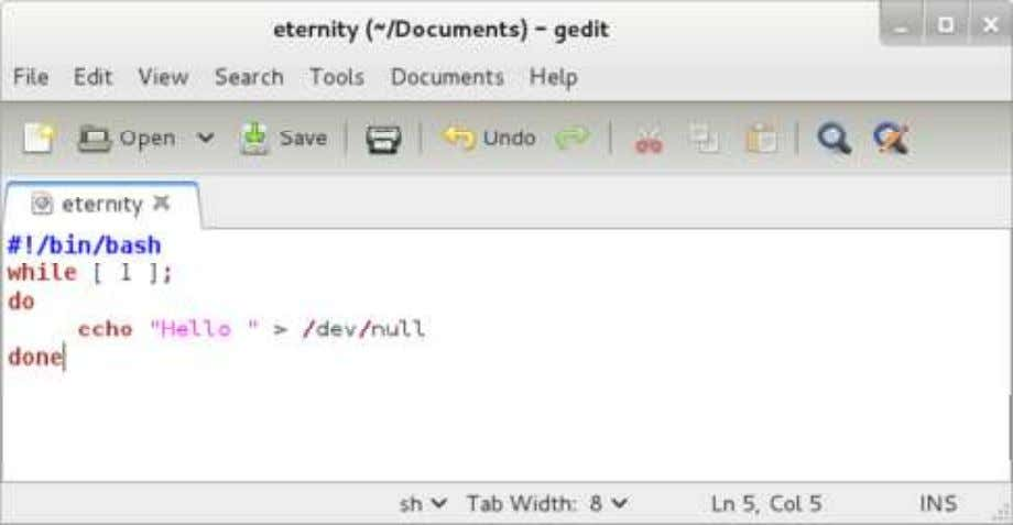 eternity in your directory and run it in the background . 3.1. Use ps –l to