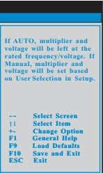If AUTO, multiplier and voltage will be left at the rated frequency/voltage. If Manual, multiplier
