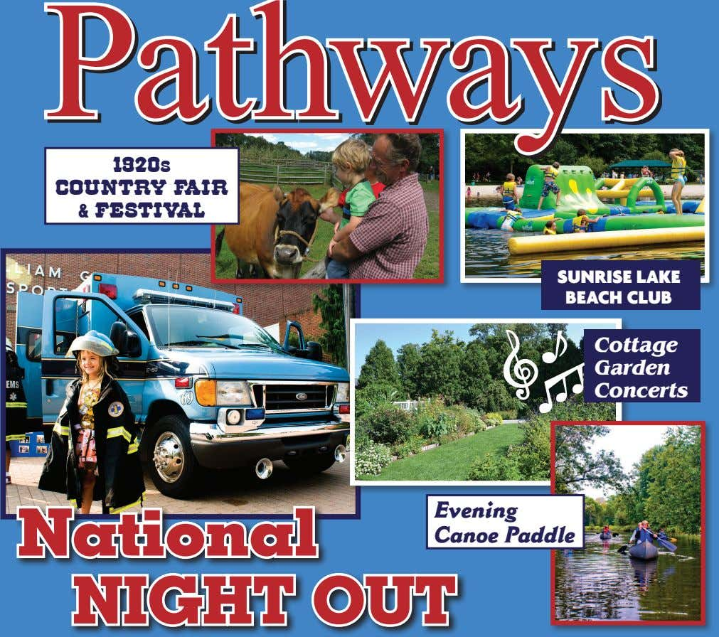 Pathways 1920s COUNTRY FAIR & FESTIVAL SUNRISE LAKE BEACH CLUB Cottage Garden Concerts National NIGHT