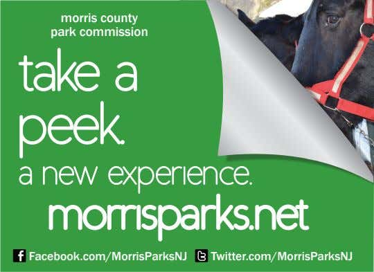 morris county park commission take a peek. a new experience. morrisparks.net Facebook.com/MorrisParksNJ
