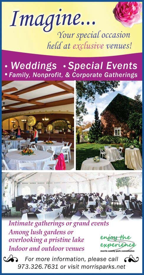 Your special occasion held at exclusive venues! • Weddings • Special Events • Family, Nonprofit,