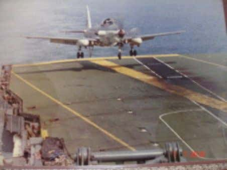 saw the last days of embarked operations for the squadron. Last deck landing, May 9, 1987