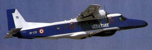 Aircraft in original blue and white color scheme IN 231 at Aero India 2001 sporting a
