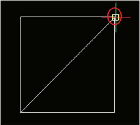 3. Draw a circle inscribed in the square. 15 ④ Move the cursor to the