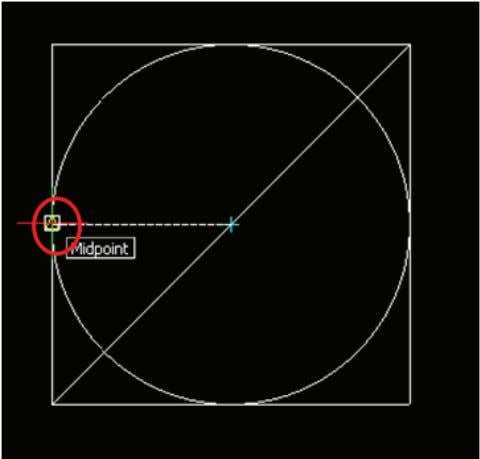 17 ⑤ Move the cursor to the middle of the left side of the square.