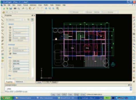 "DraftSight and open the file named ""Plan_1F.dwg"". 2. Configure the sheet. 58 ① Activate DraftSight and"