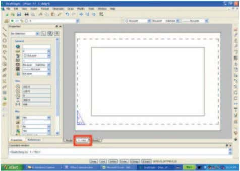 "the file named ""Plan_1F.dwg"". 2. Configure the sheet. 58 ① Activate DraftSight and open the file"