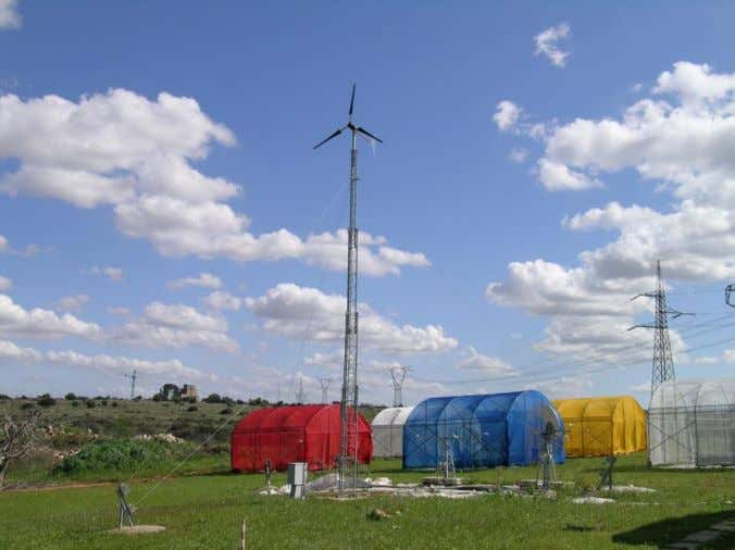 suitable more for utilities than for greenhouse farmers. Figure 11. 1 kW wind turbine at the