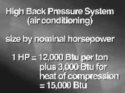 a high back pressure system, it's safe and convenient to Sizing by Nominal hp Under General