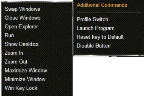 from the dropdown menu (see 8.3). The following window will appear: 2. Select the desired command.