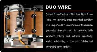 DUO WIRE Coated Snare Cable and Stainless Steel Snare Cable are uniquely angle mounted together