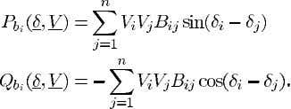 real and reactive power th bus via transmission lines. Then (1) (2) Define where subscripts and