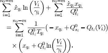 over the machine equations Sum (25) over the real power flow equations Sum (26) over the