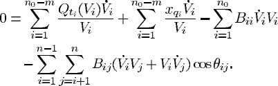 performed over all buses. Hence, using (6) we obtain i.e., Sum (24) over the machine equations