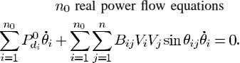 real power flow equations