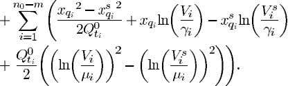 LHS of (31) from where and results in the energy function (32) The last summation of