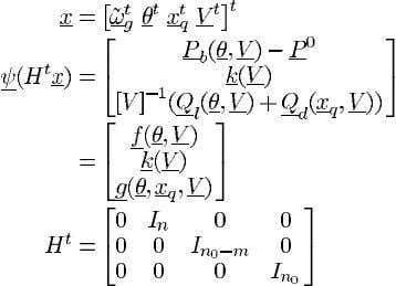 the system equations (17)–(20) to the form (34) we define The transfer function ture, with the