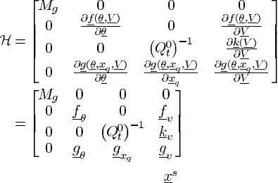 of the equilibrium the system (17)–(20) if the matrix is positive definite. evaluated at the equilibrium