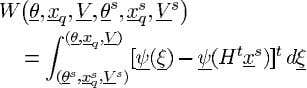 The quadratic term was given in (42). The integral term shall now be evaluated. It was