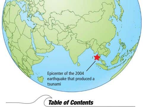 Epicenter of the 2004 earthquake that produced a tsunami Table of Contents