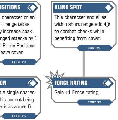 BLIND SPOT This character and allies within short range add a to combat checks while