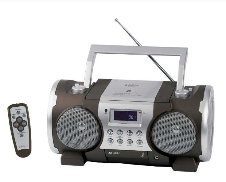 AM/FM STEREO RADIO WITH CD/MP3/USB/SD PLAYER